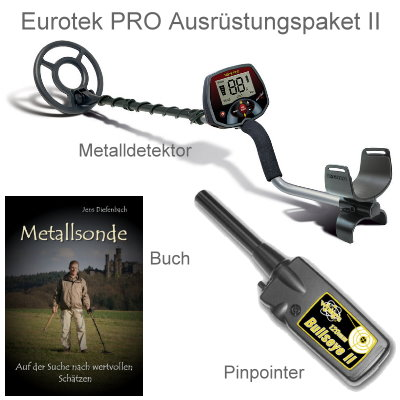 Metalldetektor Ausr�stungspaket Teknetics Eurotek PRO (LTE) mit Bullseye II Pinpointer