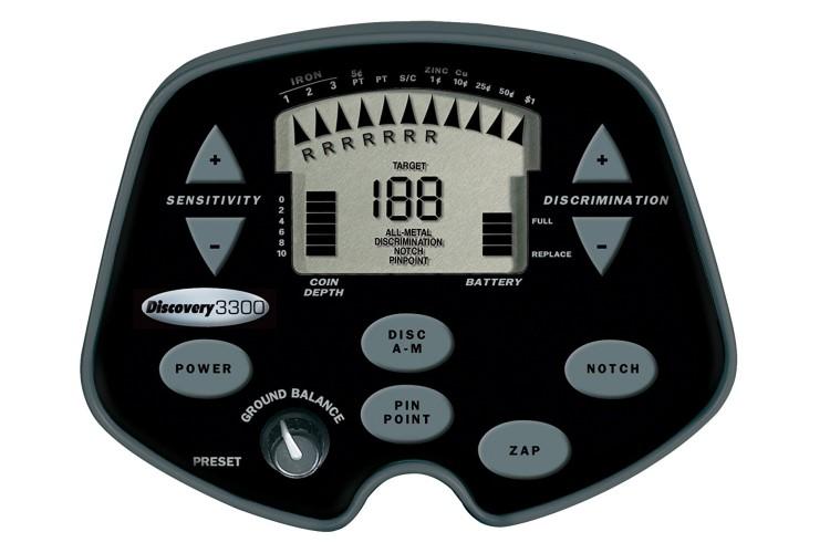 Metalldetektor Discovery 3300 mit Kopfhörer gratis
